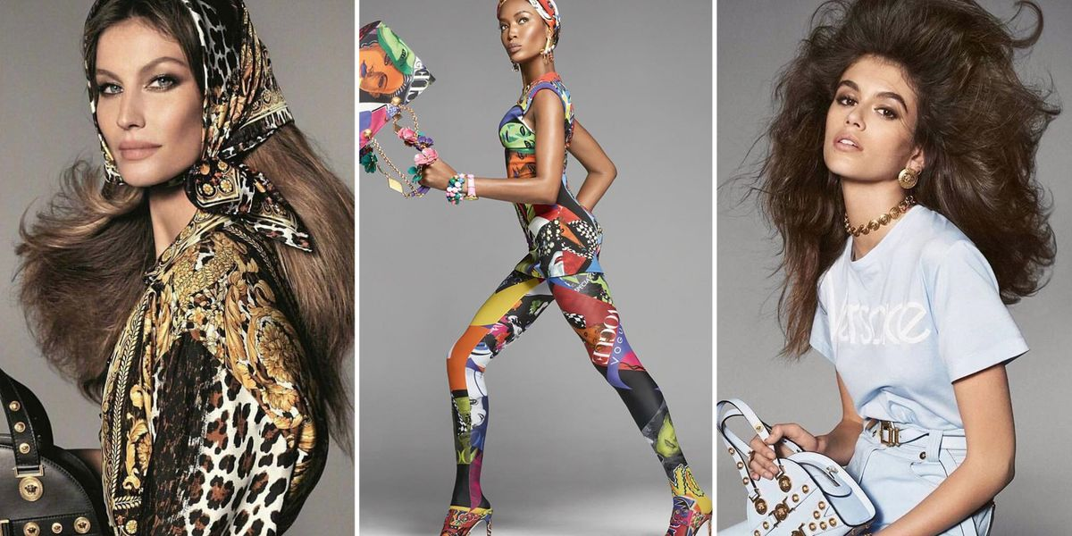 Naomi Campbell, Christy Turlington, Gigi Hadid In Versace