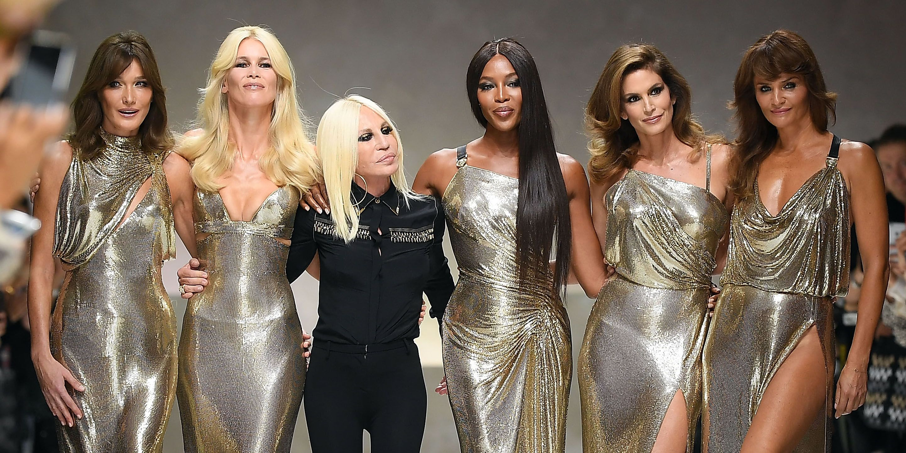 1990s Supermodels Reunited at Versace Show