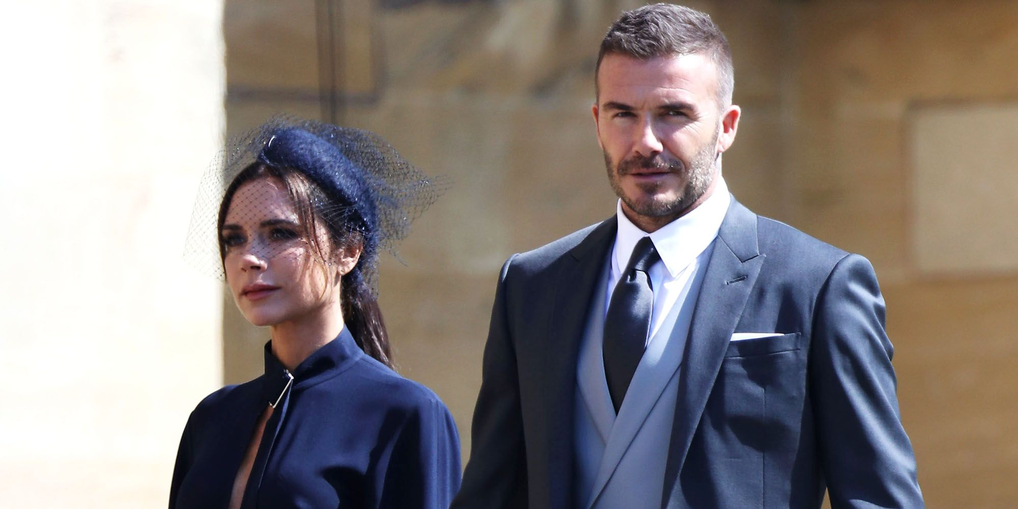 victoria beckham wore a ponytail to the royal wedding - victoria