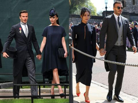 Left The Beckhams At Prince William And Kate Middleton S Wedding In 2017 Right Today Harry Meghan Markle