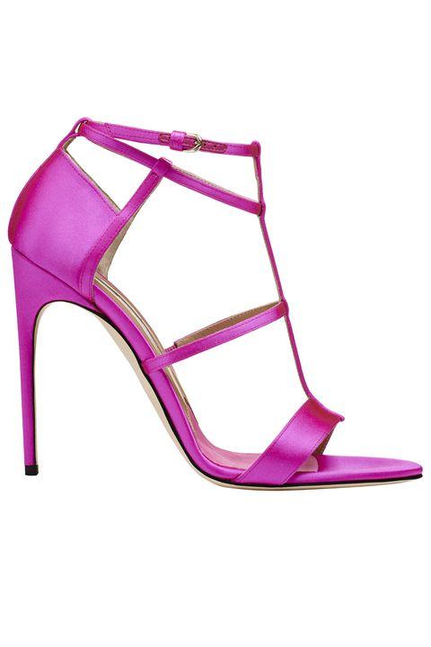 Footwear, High heels, Pink, Magenta, Violet, Sandal, Purple, Shoe, Basic pump, Strap,