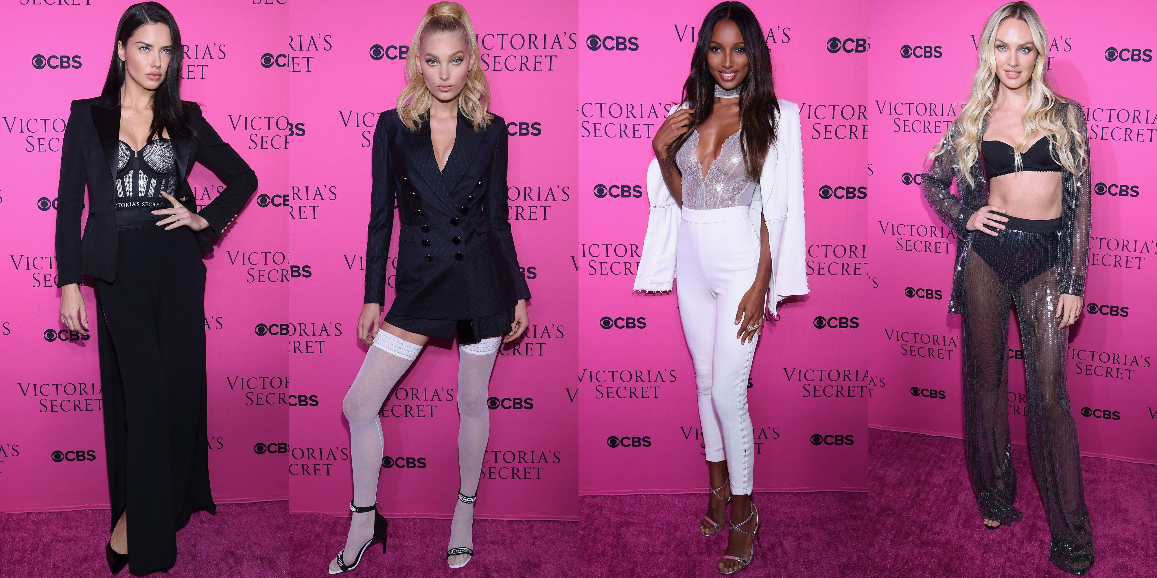 71a3829096e What the Victoria Secret Angels Wore to the Fashion Show Viewing Party