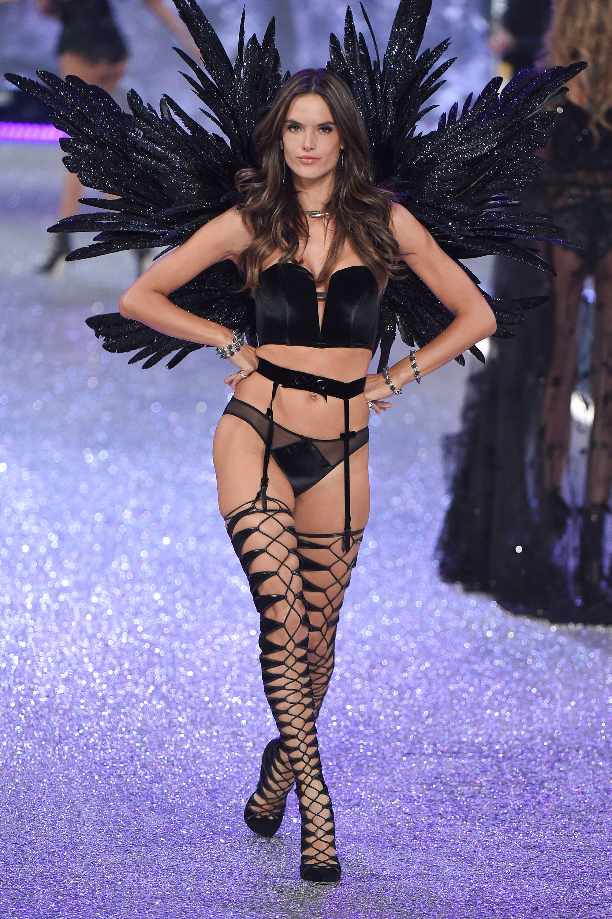 23a62ef210 Alessandra Ambrosio s Best Victoria s Secret Fashion Show Looks - Alessandra  Ambrosio s Last VS Fashion Show
