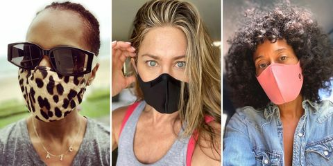 celebrities in face masks