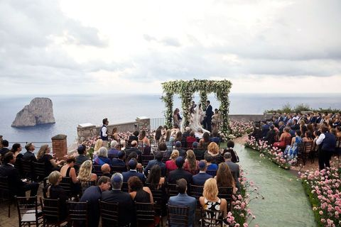capri wedding aisle ideas
