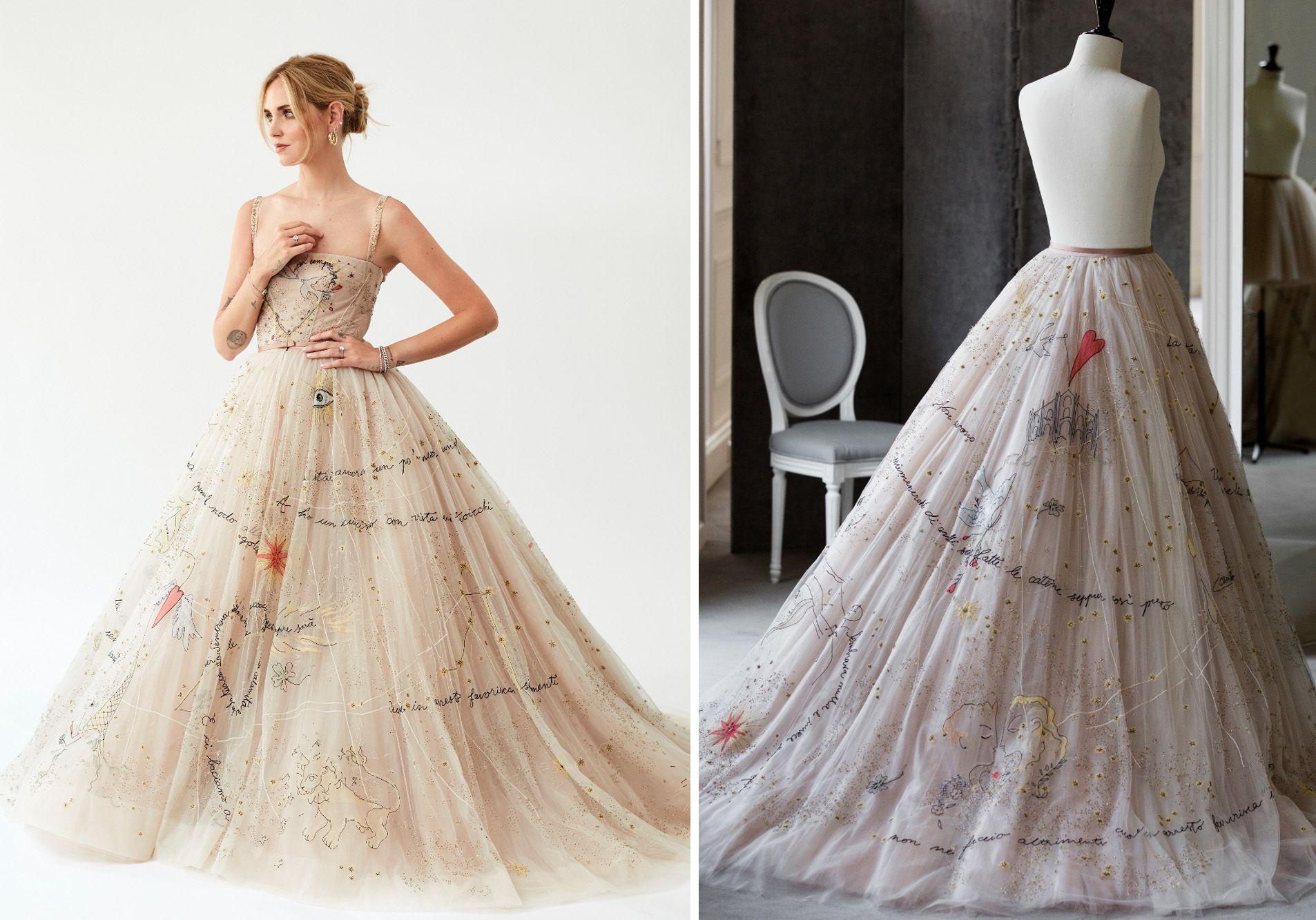 Chiara Ferrangni S 3 Dior Couture Wedding Dresses Took 1 600 Hours