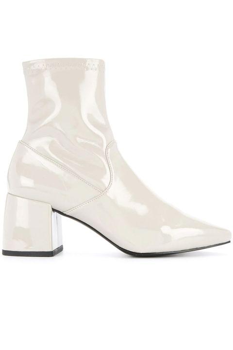 Footwear, White, Boot, Shoe, Beige, Leather,