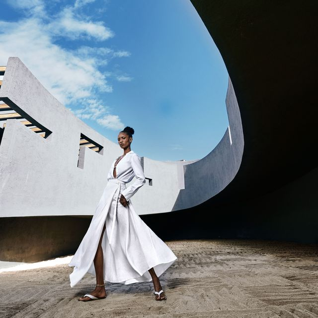 White, Sky, Architecture, Fashion, Photography, Dress, Tree, Photo shoot, Tourism, Space,