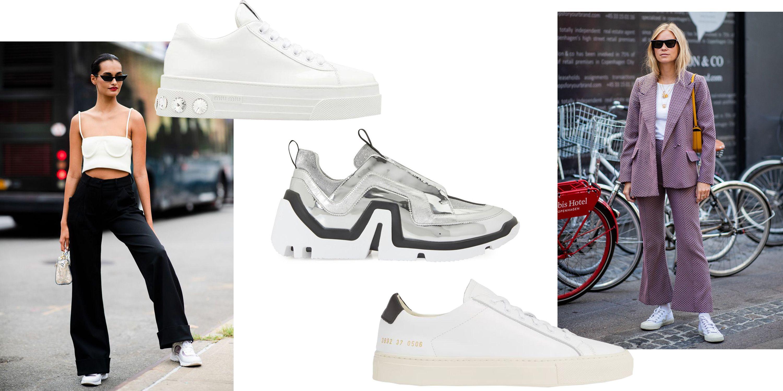 girls wearing white sneakers