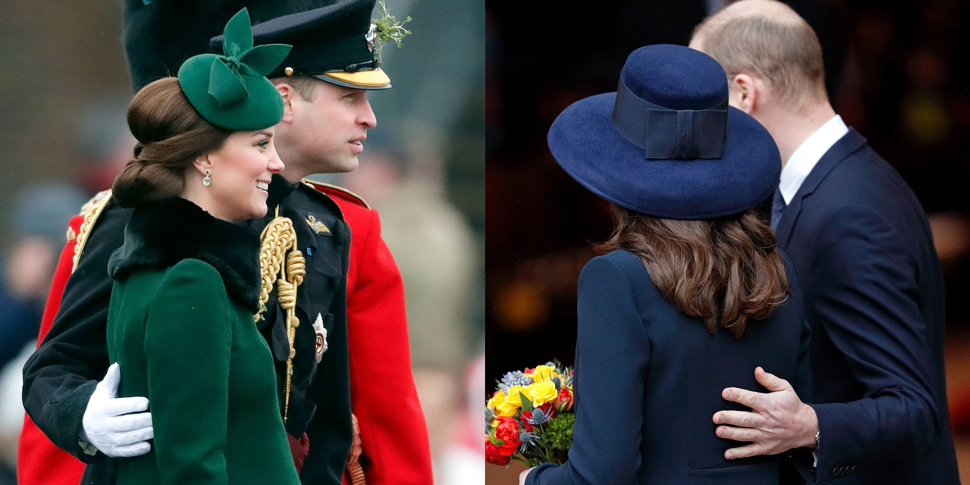 Kate Middleton and Prince William Show Rare PDA at Princess Eugenies Wedding