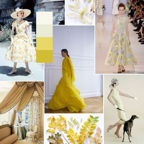 Clothing, Yellow, Dress, Fashion, Fashion model, Gown, Sleeve, Neck, Pattern, A-line,