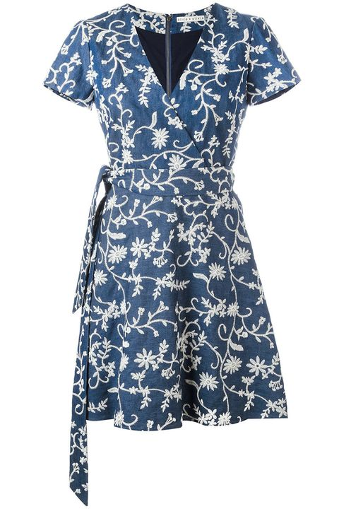 Clothing, Day dress, Dress, Blue, Sleeve, Cocktail dress, Neck, Pattern, Electric blue, Pattern,