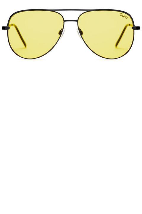 Eyewear, Sunglasses, Glasses, Yellow, aviator sunglass, Vision care, Personal protective equipment, Goggles, Eye glass accessory, Clip art,