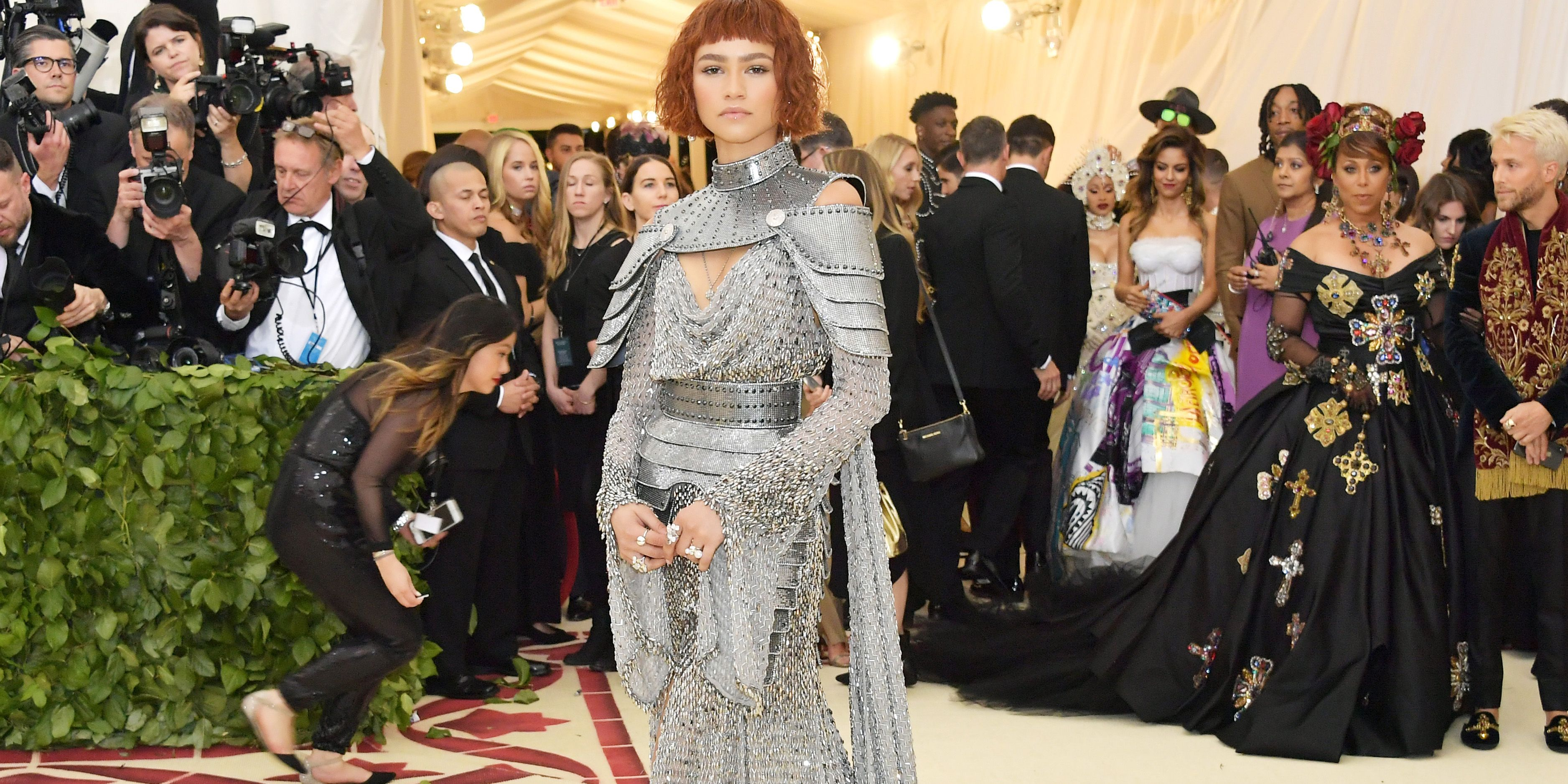 Zendaya dressed as Joan of Arc at the 2018 MET Gala