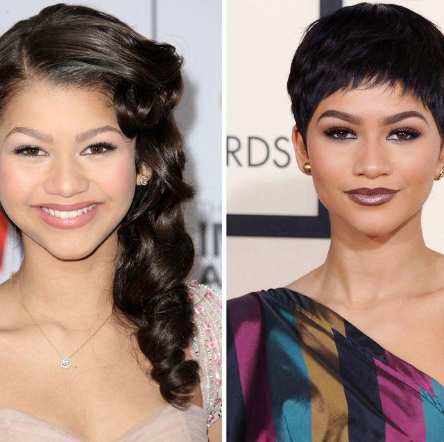 zendaya's complete hair transformation