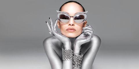 Eyewear, Face, Sunglasses, Glasses, Head, Beauty, Silver, Cool, Fashion, Vision care,