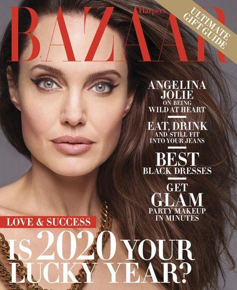 Angelina Jolie on Harper's Bazaar's cover