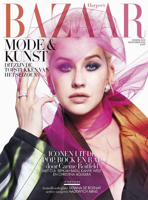 Magazine, Beauty, Album cover, Pink, Fashion, Forehead, Graphic design, Magenta, Publication, Book cover,