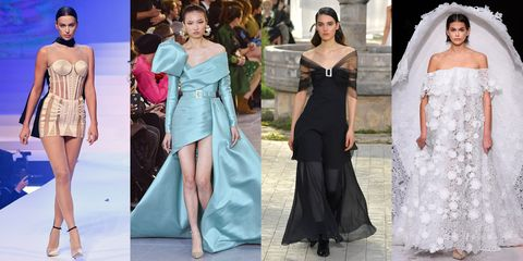 Fashion model, Clothing, Dress, Fashion, Shoulder, Gown, Haute couture, Formal wear, Joint, Event,