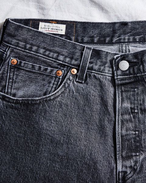 """those all important rivets plus a special """"levi's premium"""" tag, for good measure"""