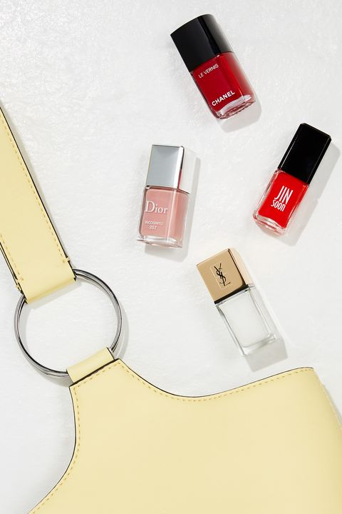 Red, Cosmetics, Lipstick, Nail polish, Material property, Beige, Nail, Nail care, Lip gloss, Liquid,