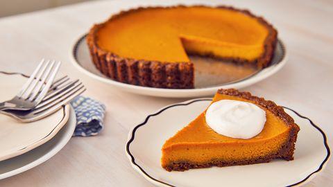 Dish, Food, Cuisine, Dessert, Ingredient, Baked goods, Cheesecake, Butter pie, Pumpkin pie, Cake,