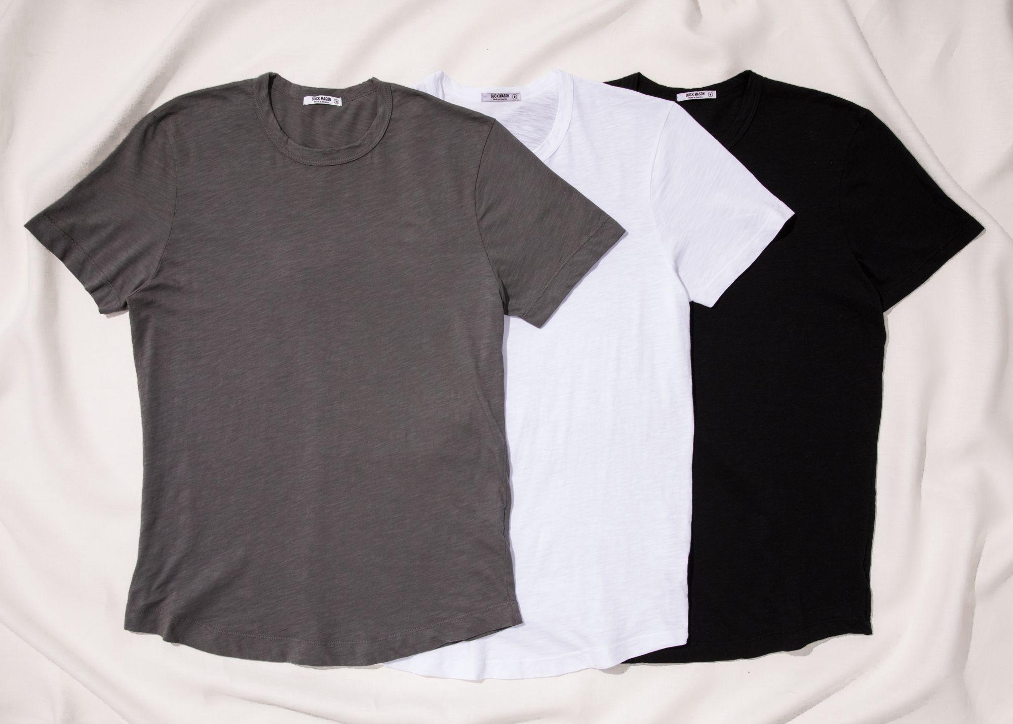 fa4c27aa Buck Mason Curved Hem Slub T-Shirt - The Elevated, Made-in-America T ...