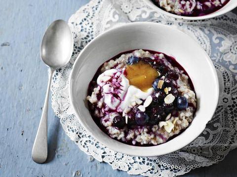 Idéias saudáveis de café da manhã, receitas saudáveis de mingau