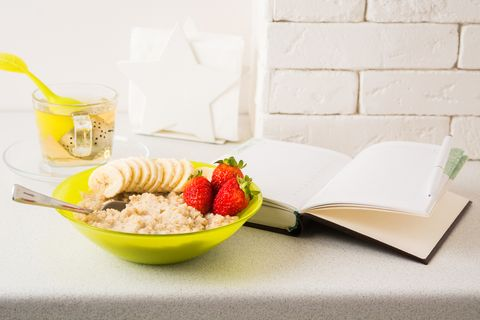 Healthy breakfast with planning concept