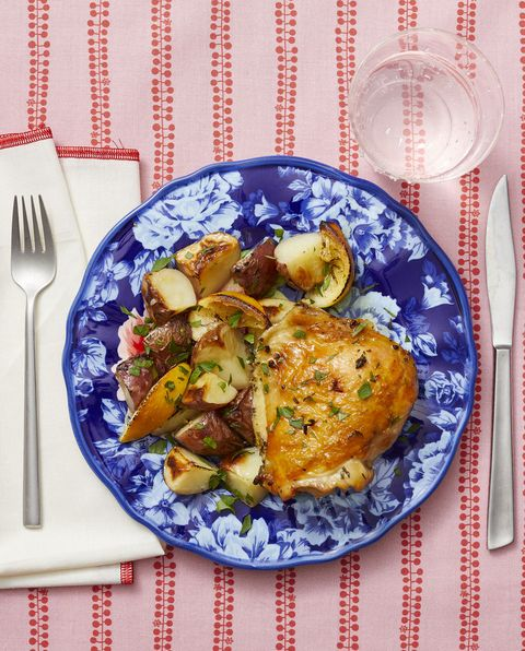 healthy chicken recipes lemon thyme sheet pan chicken and potatoes