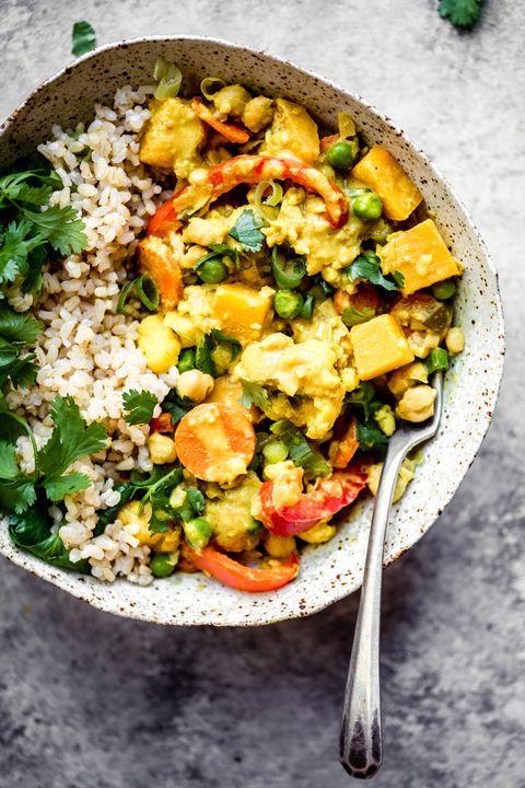 healthy chickpea pumpkin curry recipe