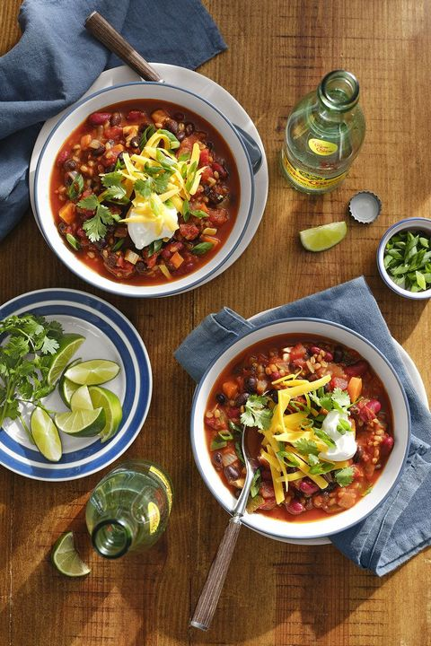 healthy comfort food vegetarian chili