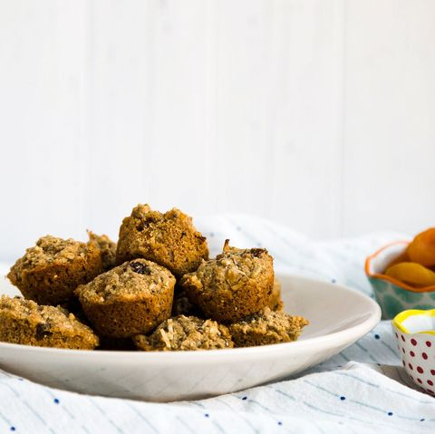 homemade aussie bites with bowl of dried fruit