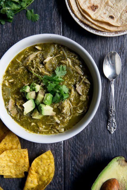 healthy crockpot recipes chicken chili verde