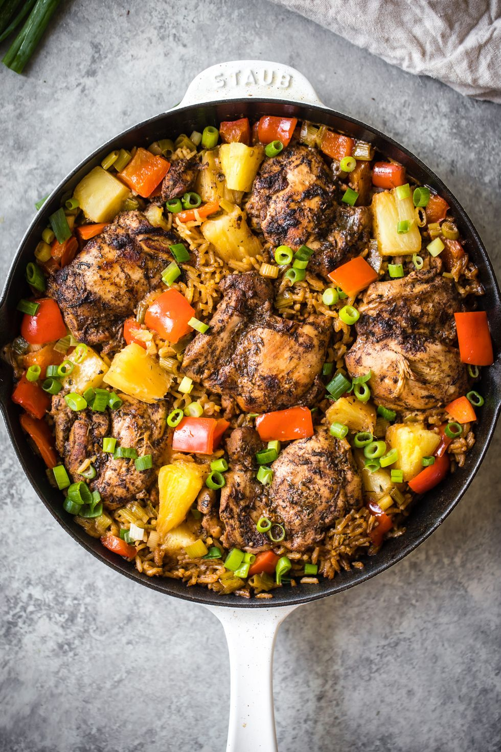 25 Easy Healthy Dinner Recipes -  Caribbean Jerk Chicken with Pineapple-Coconut Rice