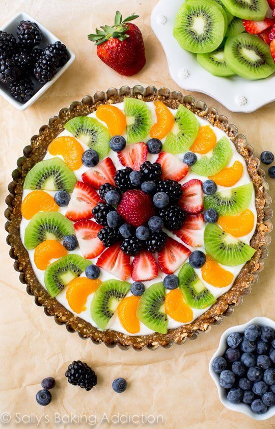 healthy easter recipes fruit tart