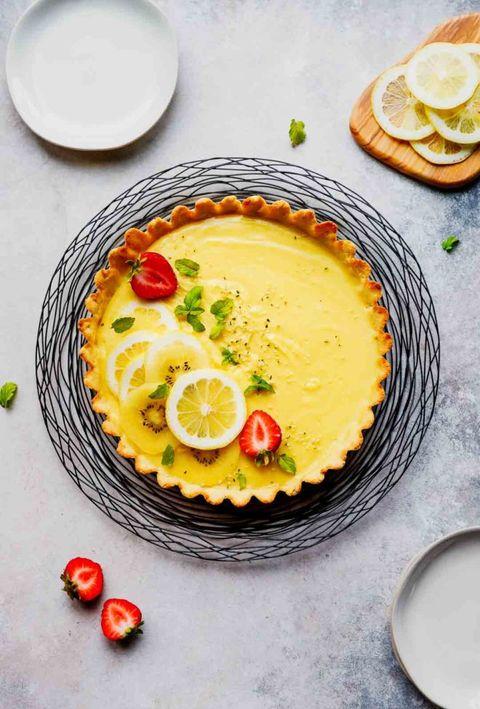 healthy easter recipes lemon tart