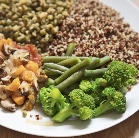 healthy eating, vegetarian dinner
