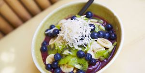 Healthy food acai fruit bowl