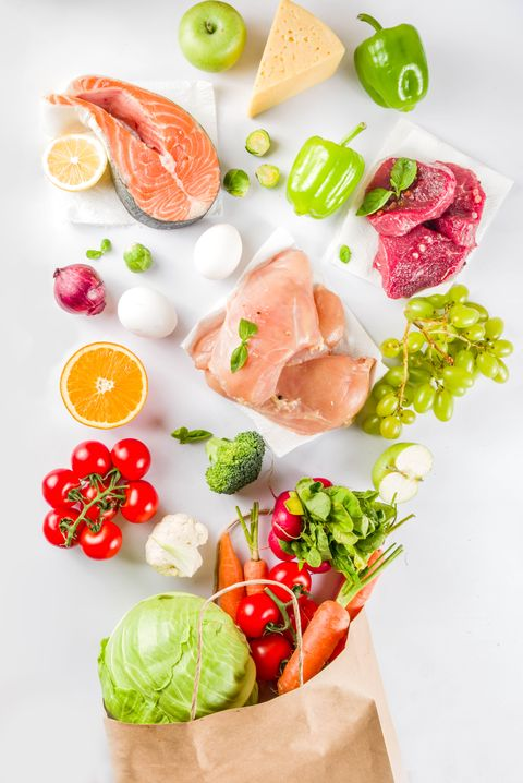 Healthy food shopping concept