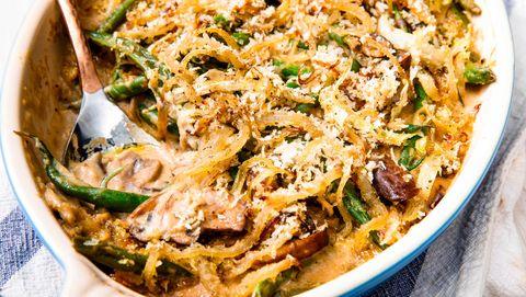 Dish, Food, Cuisine, Ingredient, Meat, Produce, Green bean casserole, Recipe, American food, Side dish,