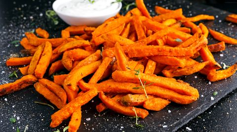 Airfryer zoete aardappelfriet