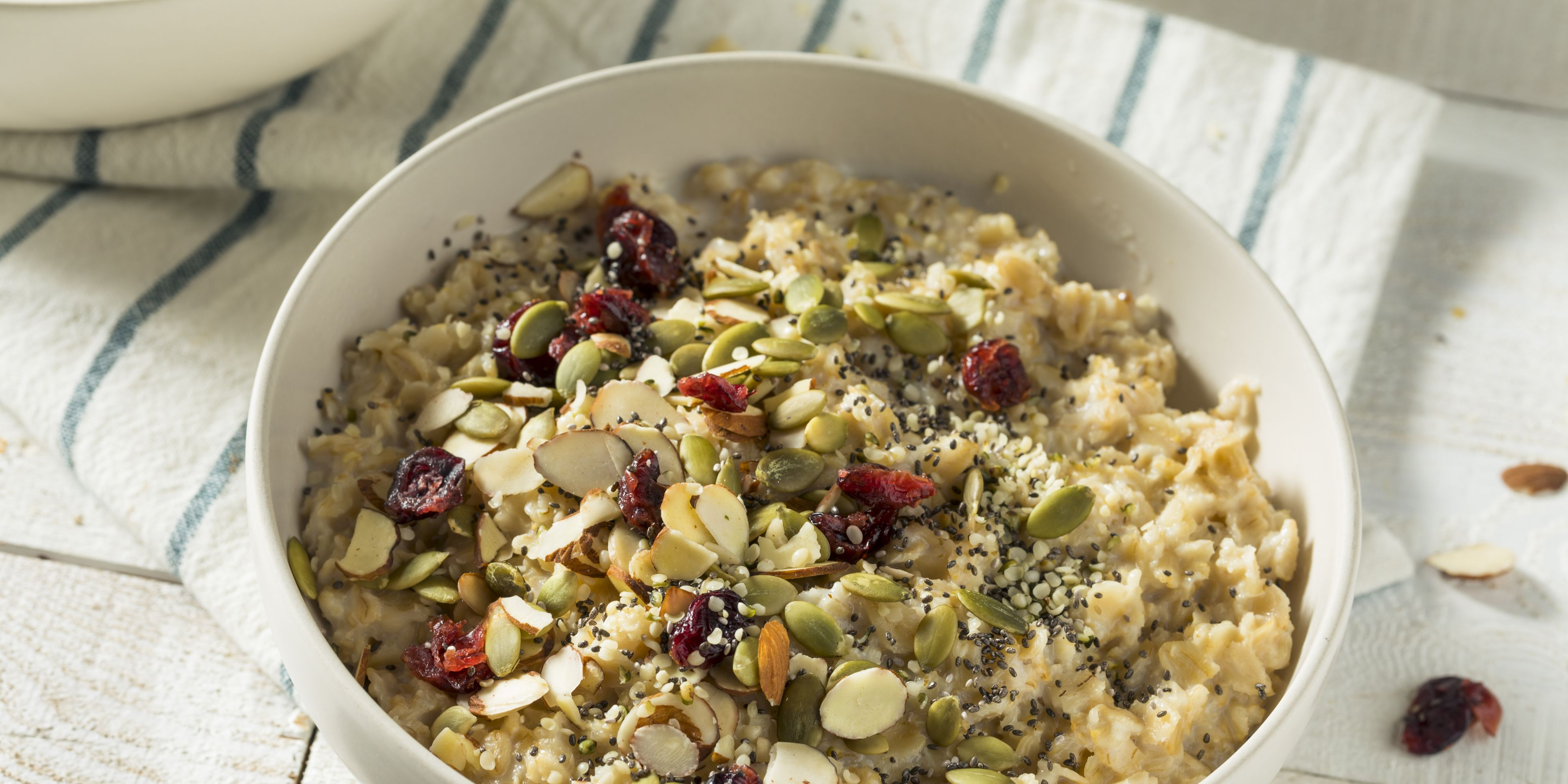 Healthy Organic Superfood Oatmeal Breakfast