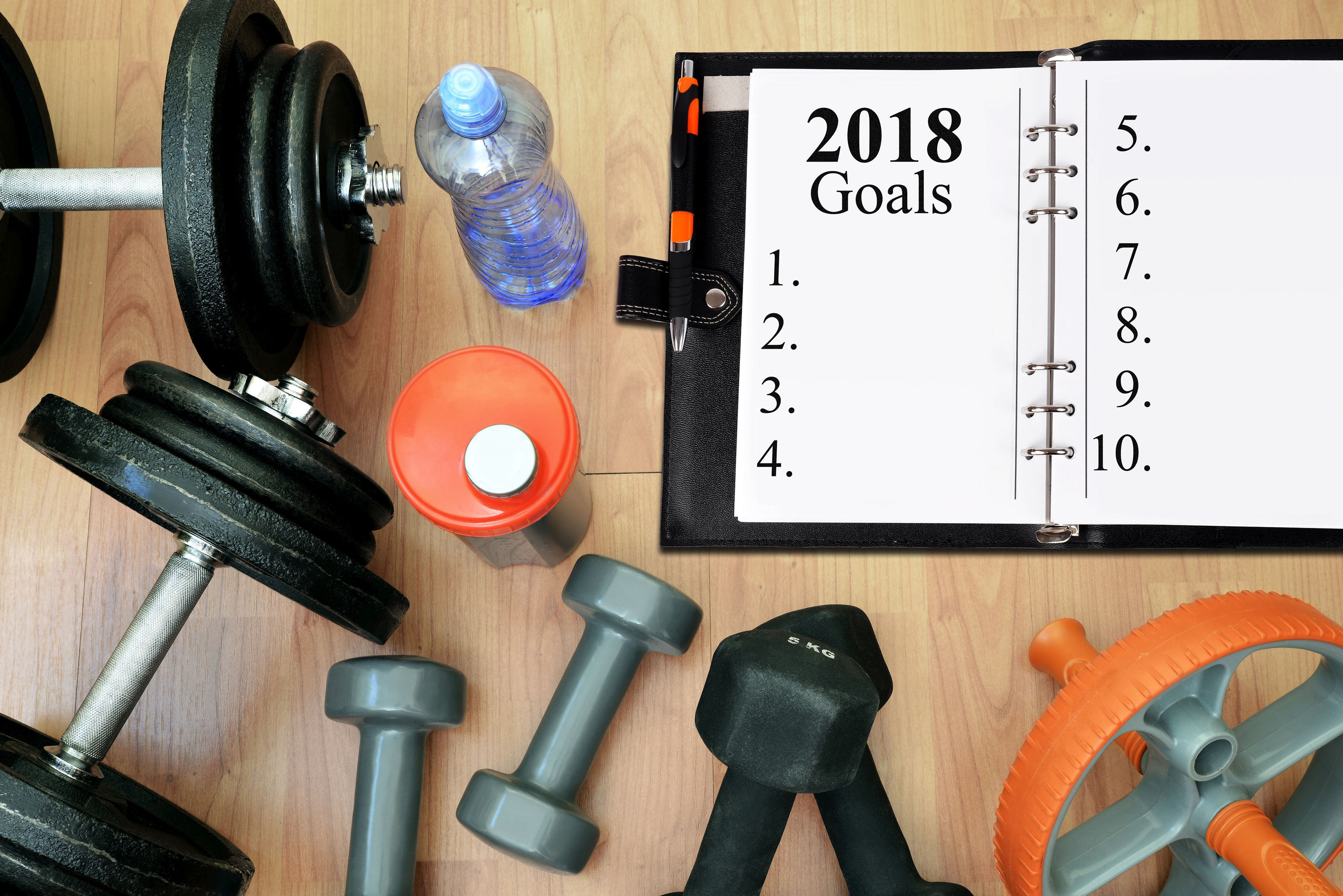 Healthy resolutions for the New Year 2018.