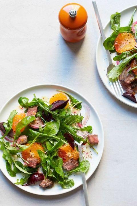 healthy salads beet tangerine steak salad