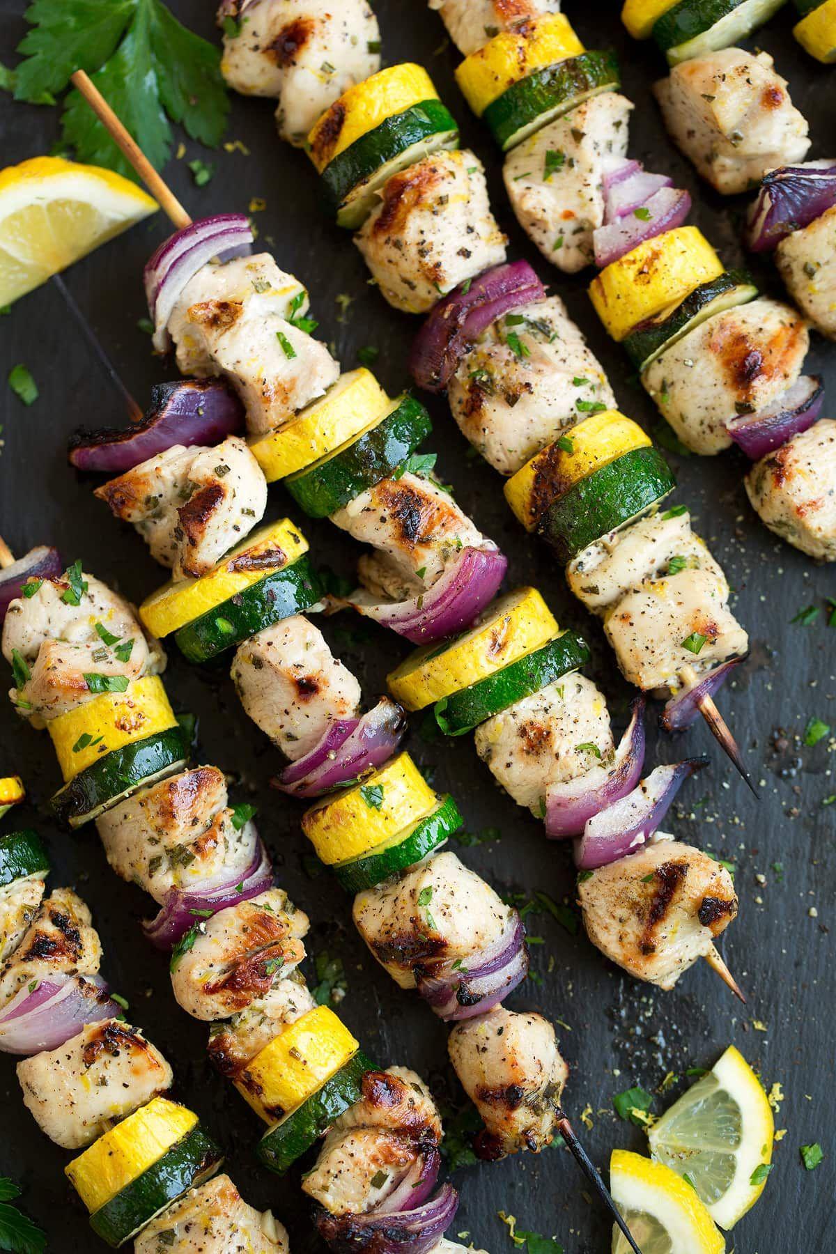 healthy super bowl food kebabs