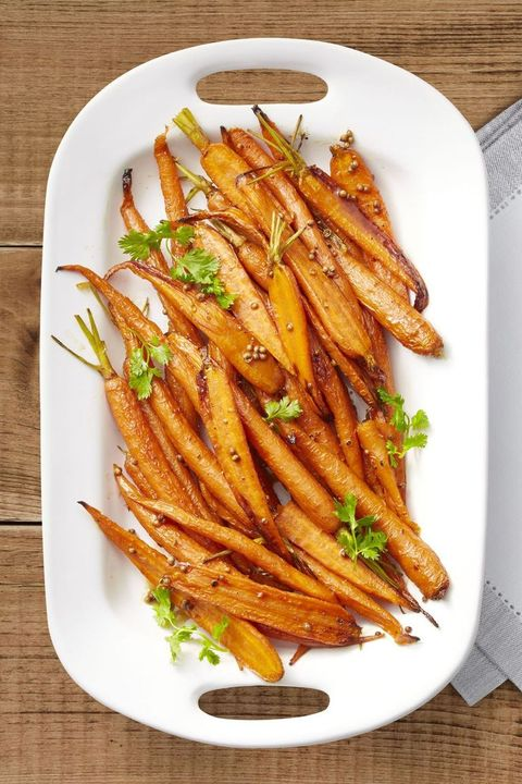 healthy thanksgiving recipes lemon maple roasted carrots