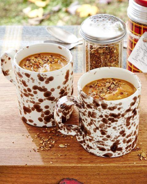 savory pumpkin soup with spice shake
