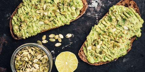 healthy toast with avocado