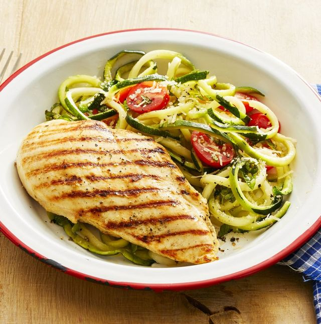 healthy chicken recipes grilled chicken with zucchini noodles